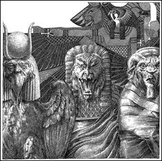 Virgil Finlay, Fane of the Black Pharaoh by Robert Bloch, Weird Tales 37-12.