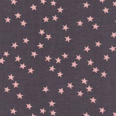 Stars fabric created by fabric editor France Duval Stalla - Batiste grise étoiles rose France Duval Stalla // claradeparis.com ♥