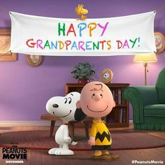 Join Charlie Brown and Snoopy in making this the best Grandparents Day ever! Charlie Brown Y Snoopy, Snoopy Love, Snoopy And Woodstock, Peanuts Movie, Peanuts Characters, Peanuts Snoopy, Peanut Pictures, Happy Grandparents Day, Snoopy Wallpaper