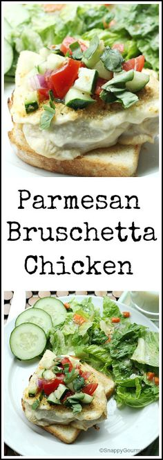 Parmesan Bruschetta Chicken - easy homemade family dinner recipe | SnappyGourmet.com