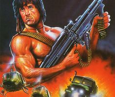 Stallone as John Rambo Vietnam and Cold War vet and effective killing machine. the ultimate warrior for battle. He inspired Barney Ross in the Expendables. 80s Movies, Great Movies, Film Movie, Classic Movie Posters, Film Posters, Silvester Stallone, Demolition Man, Rambo, First Blood