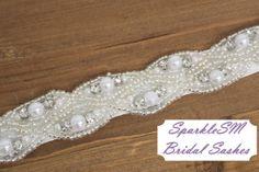 Rhinestone Bridal Sash Rhinestone and Crystal Wedding by SparkleSM, $115.00