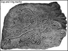 carved neolithic stones -- Eclipse, spirals for protection against shadows and creatures