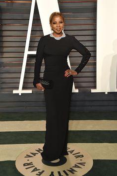 Pin for Later: Voilà Ce Que les Célébrités Ont Fait à L'afterparty des Oscars Mary J. Blige