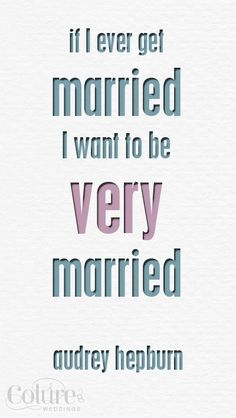 I consider myself very married. ♥