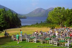 I'm realizing now that all my favorite places to eat are the ones with the spectacular views...  Jordan Pond House in Acadia Natl Park in Maine...been going here since I was a child.