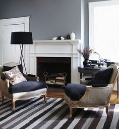 This is what Valspar Aspen Gray looks like in a Room setting - From Color Time Post