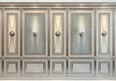Буазери INT-033 - Фото - Ставрос Ceiling Decor, Ceiling Design, Wall Design, Wall Decor, Classic Interior, French Interior, Wood Cladding, Color Plan, Trim Work