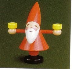 Wendt Kuhn Holiday Pixie Santa with Candles Figure New | eBay