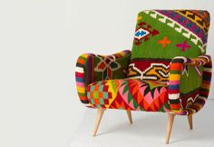 chair / furniture furniture home furnishings Funky Furniture, Furniture Design, Chair Design, Antique Furniture, What's My Favorite Color, Take A Seat, Sofa Chair, Wing Chair, Upholstery
