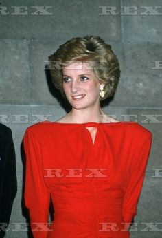 October 28, 1985  Princess Diana Wears A New Red Dress To Attend A State Reception At The Melbourne National Gallery.