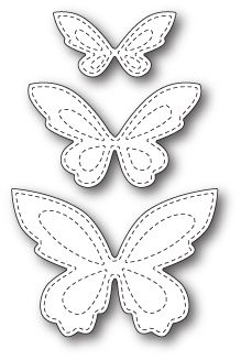 Poppystamps Craft Die – Stitched Butterfly Trio - Home Decor Ideas Butterfly Quilt, Butterfly Drawing, Butterfly Template, Butterfly Crafts, Flower Template, Crown Template, Butterfly Mobile, Heart Template, Paper Butterflies