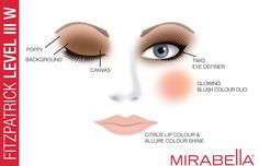 find your perfect foundation match using mirabella beauty's online fitzpatrick test.  for fitz level III W, we recommend poppy, background and canvas eye colours, twig eye definer, glowing blush colour duo, citrus lip colour and allure colour shine lip gloss.