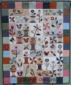 Sunshine & Butterflies Appliqued Quilt patterns by Gail Pan Designs