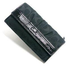 Authentic Coach Pleated Signature slim Wallet Purse 42818 sbkbk (Apparel)  discount  Coach 70% off