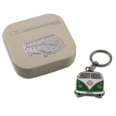 Genuine Volkswagen VW GREEN Bulli T1 Bus Keychain Key Ring Key Chain AND Gift Box ** See this great product.