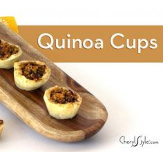 #quinoa and citrus puff #pastry cups on http://www.cherylstyle.com
