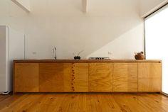 Furniermöbel Design Chile-Haus modern Innere Holzböden