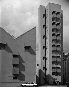 Kreuzburg tower, Berlin, 1987. John Hejduk