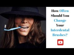 The daily use of interdental brushes to clean between your teeth eliminates bad breath, keeps your mouth healthy and gives you a beautiful smile. Dental Hygiene, Bad Breath, Beautiful Smile, You Changed, Youtube, Youtubers, Youtube Movies