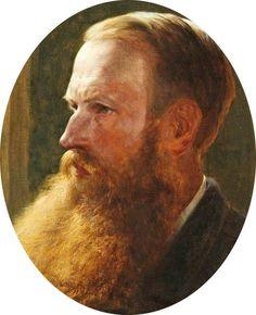 Henry William Banks Davis (British, 1833-1914), Self Portrait, 1883. Oil on canvas. Aberdeen Art Gallery & Museums.