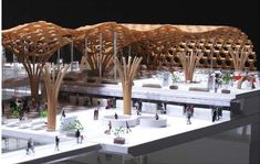 one more push before the thesis ! (i'm a shigheru ban wannabe) - Grasshopper Wooden Architecture, Landscape Architecture, Architecture Design, Ancient Architecture, Sustainable Architecture, Bamboo Structure, Timber Structure, Tree Structure, Pompidou Metz