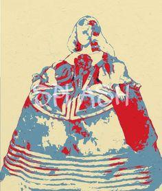 Cuadro de Menina en sepia rojo y gris moderna abstracto SP133