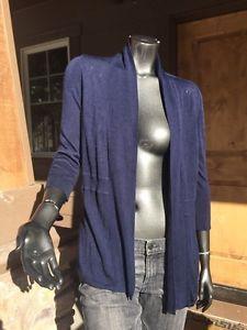 Women's White House Black Market Small Navy Open Drape Panel Sweater Mint   eBay