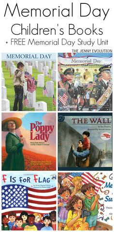 Memorial Day Books for Children + FREE Memorial Day Study Unit Resources