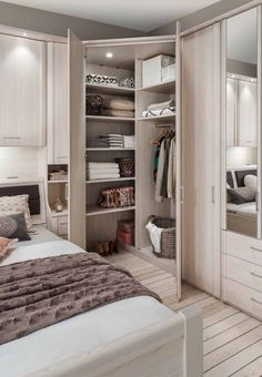 awesome small bedroom design ideas to get comfortable sleep 1 « A Virtual Zone Attic Bedroom Closets, Bedroom Built In Wardrobe, Bedroom Closet Design, Modern Master Bedroom, Small Bedroom Designs, Master Bedroom Design, Home Bedroom, Bedroom Decor, Corner Wardrobe