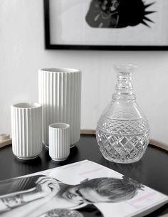 Stilleben, lyngby vases