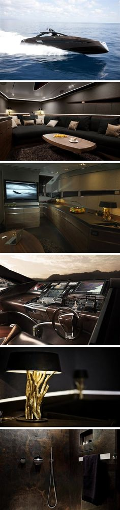 It's a man's world life style boat - Hedonist Luxury Yacht by Art of Kinetik. Yacht Design, Boat Design, Private Yacht, Private Jet, Yacht Boat, Yacht Club, Grand Luxe, Yacht Interior, Interior Design
