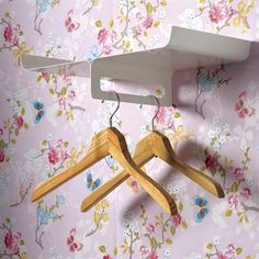 Hanger holder with shelf... simple, pretty, and useful... Scandinavian Design Center