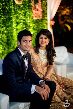 Indian Groom | Reception Suit | Photo by The Wedding Salad