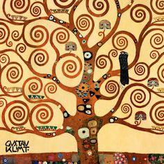 A Árvore da Vida (1904) Gustav Klimt - Painel concebido para o Palácio Stoclet.