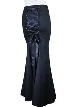 Steampunk Plus Size Skirt, Black with Lacing http://www.vintagedancer.com/victorian/steampunk-plus-size-dresses-and-corsets/