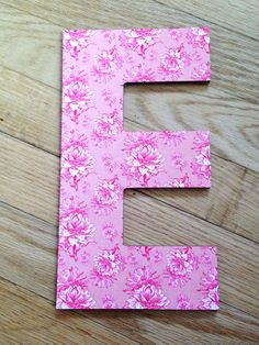 Love this DENY Decorative Wall Letter with ARTICHOKTICA ROSA by Caroline Okun!