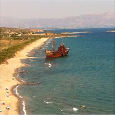 A shipwrecked beach near Gytheio..