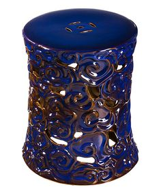 Find This Pin And More On Beautiful Blue. This Ceramic Garden Stool ...