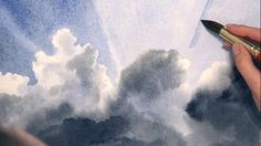 How to Paint a Watercolor Sky With Clouds — The Art League School Watercolor Clouds, Watercolor Video, Watercolor Painting Techniques, Art Watercolor, Sky Painting, Watercolour Tutorials, Painting Videos, Painting Lessons, Watercolor Landscape