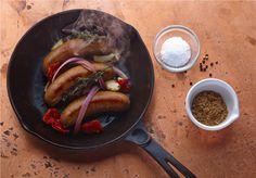 Cast Iron Skillet Big Fork Bacon Sausage
