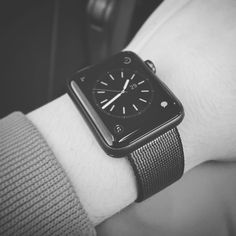 Love this beauty   #apple #watch #applewatchseries2 #applewatch #fashion #uhr #design #awesome #gadget #but #not #nessesary #space #gray #sport #edition #nylon #strap