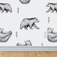 Bear Removable Wallpaper woodland nursery nursery wall decor rustic nursery wallpaper peel and stick wallpaper baby boy nursery Powder Room Wallpaper, Bear Wallpaper, Nursery Wallpaper, Wallpaper Size, Self Adhesive Wallpaper, Wallpaper Roll, Peel And Stick Wallpaper, Rustic Wallpaper, Removable Wallpaper For Renters