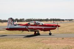Royal Australian Air Force Roulettes Display Team Pilatus PC-9A trainer. November 2013 Temora Warbirds Downunder airshow.