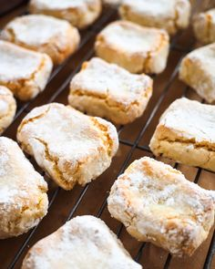 A classic Italian cookie recipe by Silvia Colloca. These almond biscuits have an addictive chewy/crumbly texture that you will love! Italian Almond Biscuits, Italian Cookies, Gluten Free Baking, Gluten Free Recipes, Vegan Recipes, Sbs Food, Italian Pastries, Almond Cookies, Kitchens