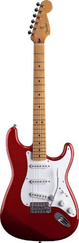 :Fender Jimmie Vaughan Tex Mex(TM) Strat® Electric Guitar, Candy Apple Red, Maple Fretboard