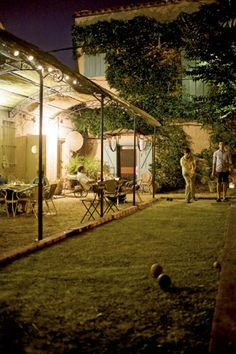 I would like to learn to play bocce ball and make a spot for it!