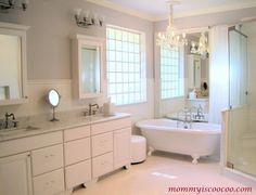 white master bathroom mommy is coocoo