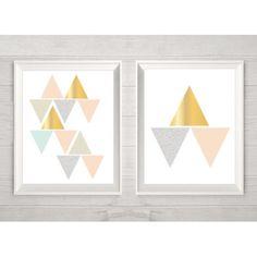 Obrazki geometryczne 2 szt pokój dziecięcy