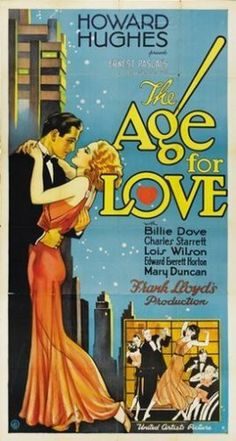 The Age for Love Movie Poster Howard Hughes Vintage Print Image Photo PW0 | eBay
